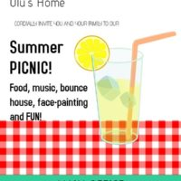 Olu's Summer Picnic for Employees and Family on August 17!